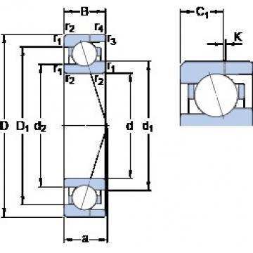 10 mm x 22 mm x 6 mm  SKF 71900 CE/HCP4AH angular contact ball bearings