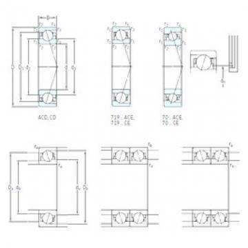 70 mm x 90 mm x 10 mm  SKF 71814 ACD/P4 angular contact ball bearings