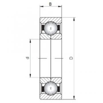 ISO QJ1072 angular contact ball bearings