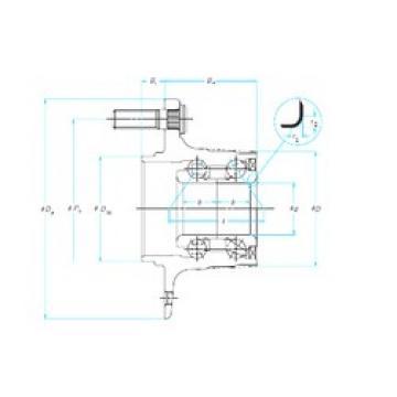NSK 27BWK06 angular contact ball bearings