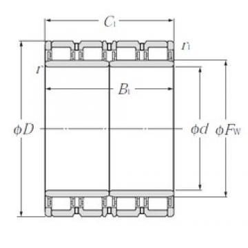 850 mm x 1 180 mm x 650 mm  NTN E-4R17004 cylindrical roller bearings