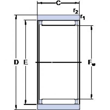 SKF RNAO 40x50x17 cylindrical roller bearings