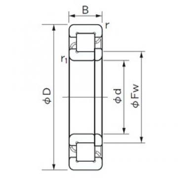 320 mm x 480 mm x 74 mm  NACHI NUP 1064 cylindrical roller bearings