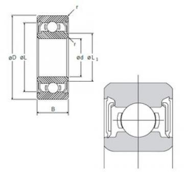 6 mm x 10 mm x 3 mm  NMB L-1060DD deep groove ball bearings