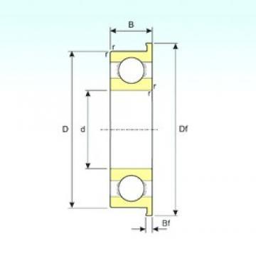 3 mm x 9 mm x 2,5 mm  ISB MF93 deep groove ball bearings