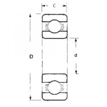 28,575 mm x 63,5 mm x 15,875 mm  FBJ 1654 deep groove ball bearings