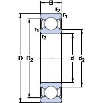 6.35 mm x 15.875 mm x 5.77 mm  SKF D/W RW4-2Z deep groove ball bearings