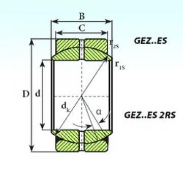 114,3 mm x 177,8 mm x 100,01 mm  ISB GEZ 114 ES plain bearings