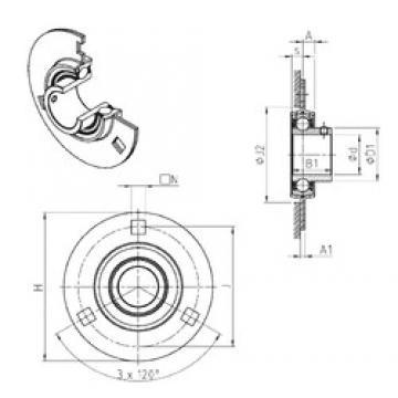 SNR USPF201 bearing units