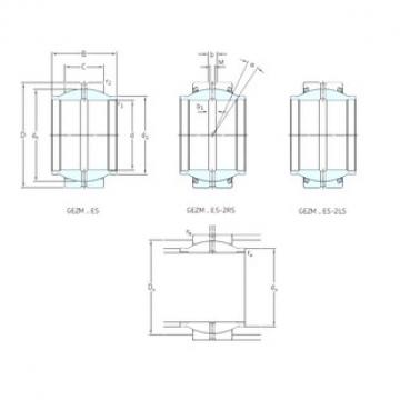 101,6 mm x 158,75 mm x 152,4 mm  SKF GEZM400ES plain bearings