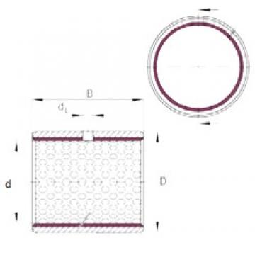 80 mm x 85 mm x 55 mm  INA EGB8055-E50 plain bearings