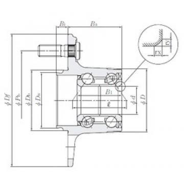 NTN HUB048-35 angular contact ball bearings