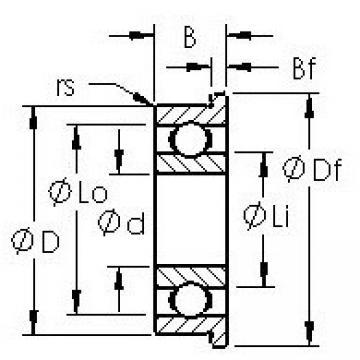 AST SMF72 deep groove ball bearings