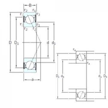 8 mm x 24 mm x 8 mm  SKF S728 CD/HCP4A angular contact ball bearings