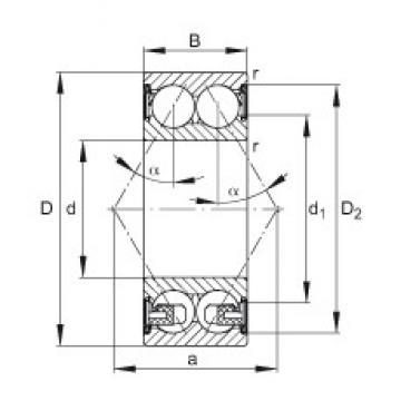 25 mm x 52 mm x 20,6 mm  FAG 3205-BD-2Z-TVH angular contact ball bearings