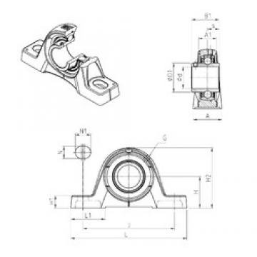 SNR UCPE209 bearing units