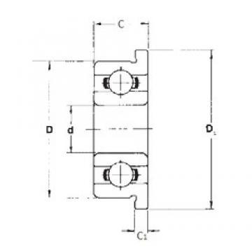 4 mm x 7 mm x 2 mm  FBJ MF74 deep groove ball bearings