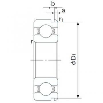 55 mm x 90 mm x 18 mm  NACHI 6011N deep groove ball bearings