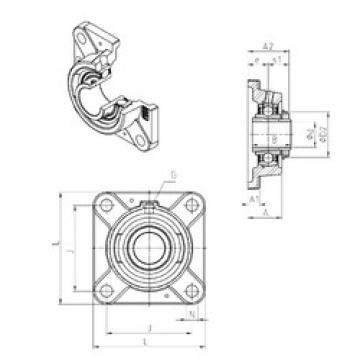 SNR UKFE209H bearing units