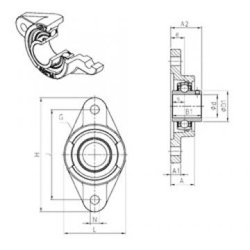 SNR UCFL216 bearing units