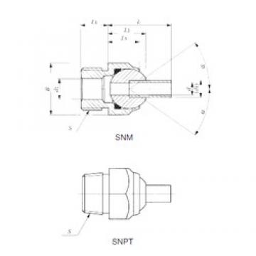 IKO SNPT 1/2-40 plain bearings