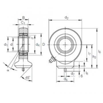 20 mm x 35 mm x 16 mm  INA GK 20 DO plain bearings