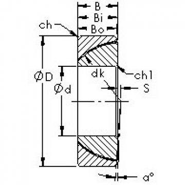 AST GAC100T plain bearings
