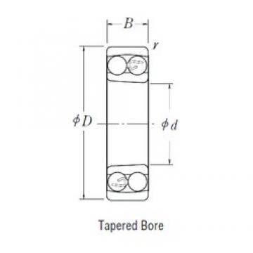 40 mm x 80 mm x 23 mm  FBJ 2208K self aligning ball bearings