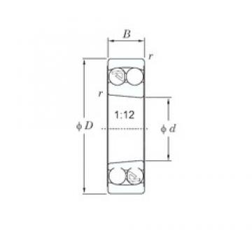 65 mm x 140 mm x 33 mm  KOYO 1313K self aligning ball bearings