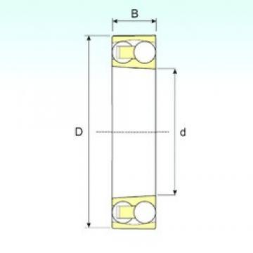 80 mm x 170 mm x 39 mm  ISB 1316 K self aligning ball bearings
