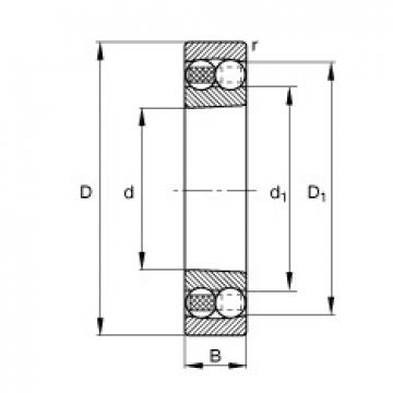 75 mm x 130 mm x 31 mm  FAG 2215-K-TVH-C3 self aligning ball bearings