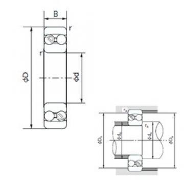 50 mm x 110 mm x 27 mm  NACHI 1310 self aligning ball bearings