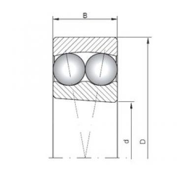85 mm x 180 mm x 41 mm  ISO 1317K self aligning ball bearings