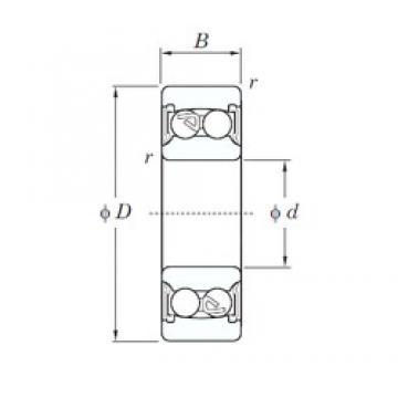 10 mm x 30 mm x 14 mm  KOYO 2200-2RS self aligning ball bearings
