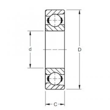 146,05 mm x 196,85 mm x 25,4 mm  Timken 57BIH251 deep groove ball bearings