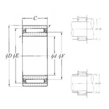 90 mm x 120 mm x 30 mm  NTN NAO-90×120×30 needle roller bearings