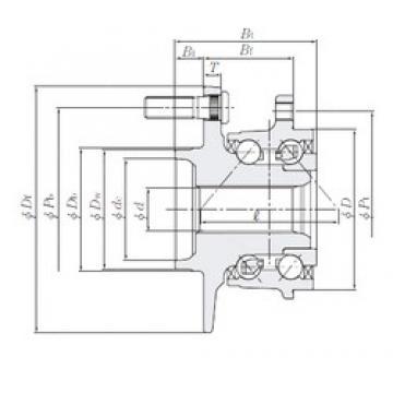 NTN HUB251-4 angular contact ball bearings