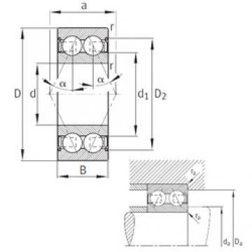 40 mm x 90 mm x 36,5 mm  FAG 3308-B-2Z-TVH angular contact ball bearings