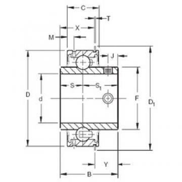 28,575 mm x 62 mm x 38,1 mm  Timken ER18 deep groove ball bearings
