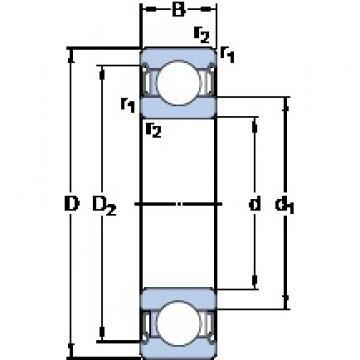 70 mm x 125 mm x 24 mm  SKF 6214-2Z/VA228 deep groove ball bearings