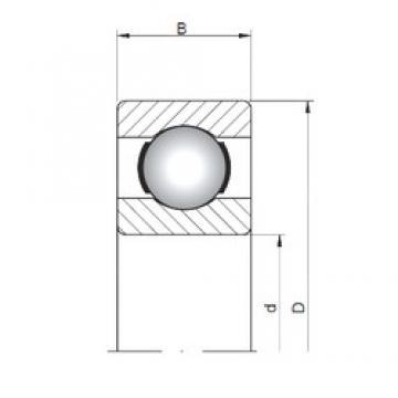 4 mm x 9 mm x 2,5 mm  ISO 618/4 deep groove ball bearings