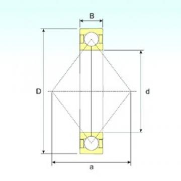 260 mm x 360 mm x 46 mm  ISB QJ 1952 N2 angular contact ball bearings
