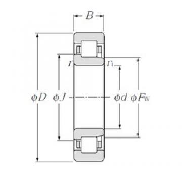 75 mm x 160 mm x 55 mm  CYSD NJ2315 cylindrical roller bearings