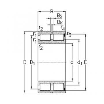 80 mm x 110 mm x 30 mm  NKE NNCF4916-V cylindrical roller bearings