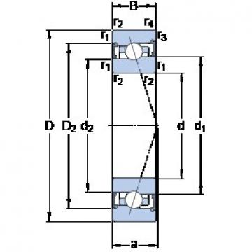 40 mm x 62 mm x 12 mm  SKF S71908 CB/HCP4A angular contact ball bearings