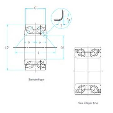 36 mm x 72,05 mm x 34 mm  ISO DAC36720534 angular contact ball bearings