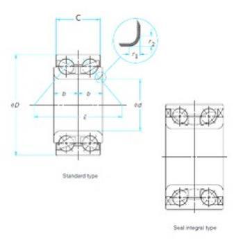 42 mm x 76 mm x 40 mm  FAG 547059A angular contact ball bearings