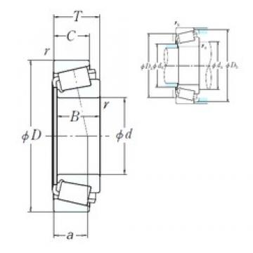 115 mm x 177,8 mm x 41,275 mm  NSK 64452/64700 cylindrical roller bearings