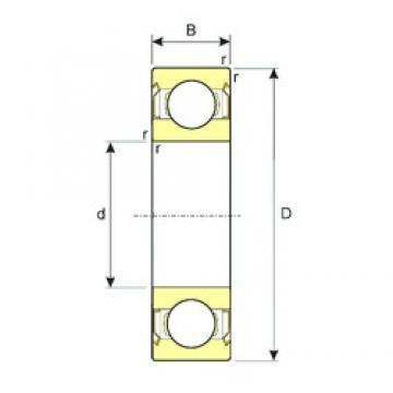 10 mm x 35 mm x 11 mm  ISB 6300-ZZ deep groove ball bearings