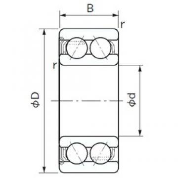 17 mm x 40 mm x 17.5 mm  NACHI 5203AZ angular contact ball bearings